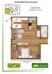 Inmobiliaria Casmar - Apartamentos Pirineo - Apartamentos Villanua - PLANTA 1º 2º - A1