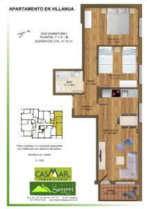 Inmobiliaria Casmar - Apartamentos Pirineo - Apartamentos Villanua - PLANTA 1º 2º - D1