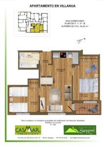 Inmobiliaria Casmar - Apartamentos Pirineo - Apartamentos Villanua - PLANTA 1º 2º - E1
