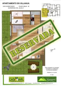Inmobiliaria Casmar - Apartamentos Pirineo - Apartamentos Villanua - Planta Baja - A - Vivienda Reservada - 1448