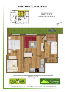 Inmobiliaria Casmar - Apartamentos Pirineo - Apartamentos Villanua - PLANTA BAJA - C1