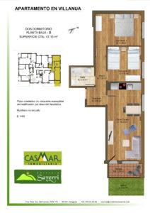 Inmobiliaria Casmar - Apartamentos Pirineo - Apartamentos Villanua - PLANTA BAJA - D1