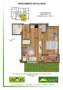 Inmobiliaria Casmar - Apartamentos Pirineo - Apartamentos Villanua - PLANTA BAJA - E1