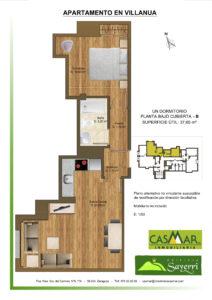 Inmobiliaria Casmar - Apartamentos Pirineo - Apartamentos Villanua - PLANTA BAJO CUBIERTA - B1
