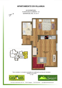 Inmobiliaria Casmar - Apartamentos Pirineo - Apartamentos Villanua - PLANTA BAJO CUBIERTA - C1