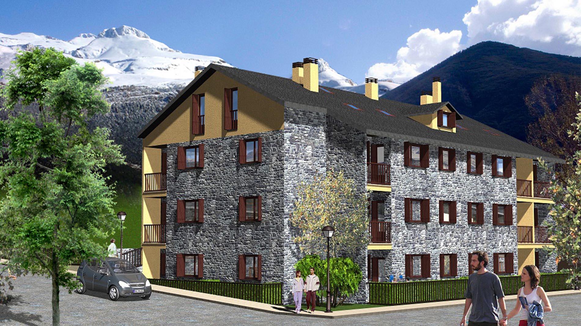 Slide - Venta de Apartamentos en el Pirineo - Promoción Sayerri