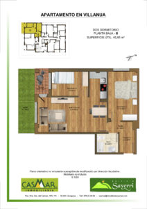Inmobiliaria Casmar - Apartamentos Pirineo - Apartamentos Villanua - PLANTA BAJA - B1