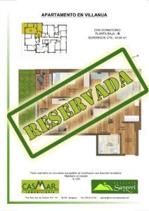 Inmobiliaria Casmar - Apartamentos Pirineo - Apartamentos Villanua - Planta Bajo - B - Vivienda Reservada