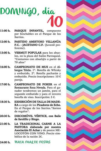 Inmobiliaria Casmar - Apartamentos Pirineo Aragonés - Fiestas patronales en Villanúa - Domingo - 2017