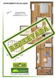 Inmobiliaria Casmar - Apartamentos Pirineo - Apartamentos Villanúa - Planta 2 - D - Vivienda Reservada