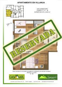 Inmobiliaria Casmar - Apartamentos Pirineo - Apartamentos Villanúa - Planta 1 - A - Vivienda Reservada Tamaño 1448x