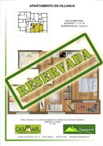 Inmobiliaria Casmar - Apartamentos Pirineo - Apartamentos Villanua - Planta 1-2-E - Vivienda Reservada Tamaño 1448x
