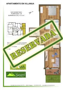 Inmobiliaria Casmar - Apartamentos Pirineo - Apartamentos Villanua - Planta Bajo - D - Vivienda Reservada