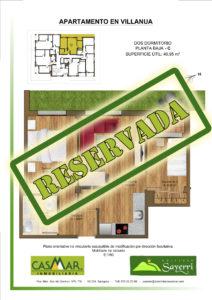 Inmobiliaria Casmar - Apartamentos Pirineo - Apartamentos Villanua - Planta Bajo - C - Vivienda Reservada