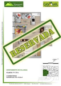 Inmobiliaria Casmar - Pisos Pirineo - Pisos Villanua - PLANTA 1 - A - Reservada