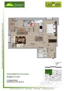 Inmobiliaria Casmar - Pisos Pirineo - Pisos Villanua - PLANTA 1 - B