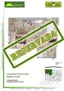 Inmobiliaria Casmar - Pisos Pirineo - Pisos Villanua - PLANTA 1 - B - Reservada