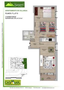 Inmobiliaria Casmar - Pisos Pirineo - Pisos Villanua - PLANTA 1 - D