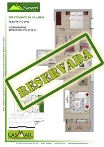 Inmobiliaria Casmar - Pisos Pirineo - Pisos Villanua - PLANTA 1 - D - Reservada