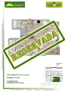 Inmobiliaria Casmar - Pisos Pirineo - Pisos Villanua - PLANTA 1 - E - Reservada