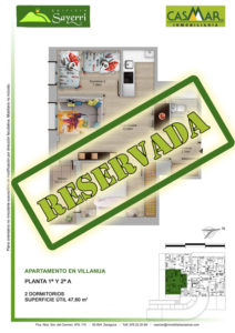 Inmobiliaria Casmar - Pisos Pirineo - Pisos Villanua - PLANTA 2 - A - Reservada