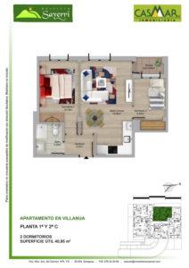 Inmobiliaria Casmar - Pisos Pirineo - Pisos Villanua - PLANTA 2 - C