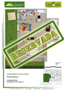 Inmobiliaria Casmar - Pisos Pirineo - Pisos Villanua - PLANTA BAJA - A - Reservada