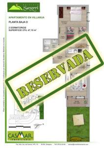 Inmobiliaria Casmar - Pisos Pirineo - Pisos Villanua - PLANTA BAJA - D - Reservada