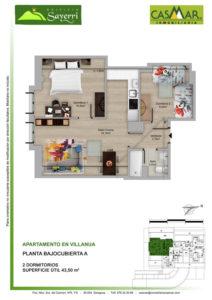 Inmobiliaria Casmar - Pisos Pirineo - Pisos Villanua - PLANTA BAJOCUBIERTA - A