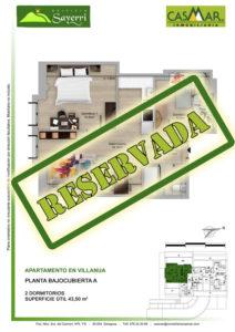 Inmobiliaria Casmar - Pisos Pirineo - Pisos Villanua - PLANTA BAJOCUBIERTA - A - Reservada