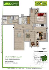Inmobiliaria Casmar - Pisos Pirineo - Pisos Villanua - PLANTA BAJOCUBIERTA - B