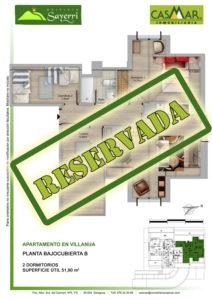 Inmobiliaria Casmar - Pisos Pirineo - Pisos Villanua - PLANTA BAJOCUBIERTA - B - Reservada
