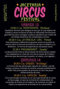 Programa XV Jacetania Circus Festival cartel 2019 - Inmobiliaria Casmar - Pisos, apartamentos en Pirineo