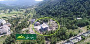 Sayerri - Foto aérea de la obra Junio 2019 - Inmobiliaria Casmar - Pisos, apartamentos en Pirineo