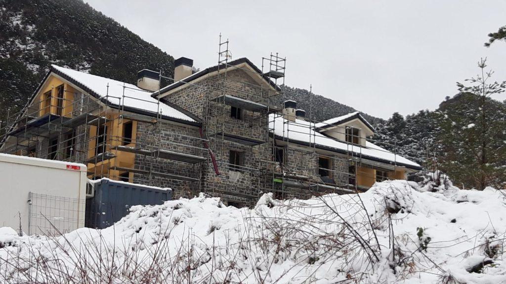 Sayerri - Nieve en Villanúa - Enero 2020 01 - Inmobiliaria Casmar - Piso en el Pirineo